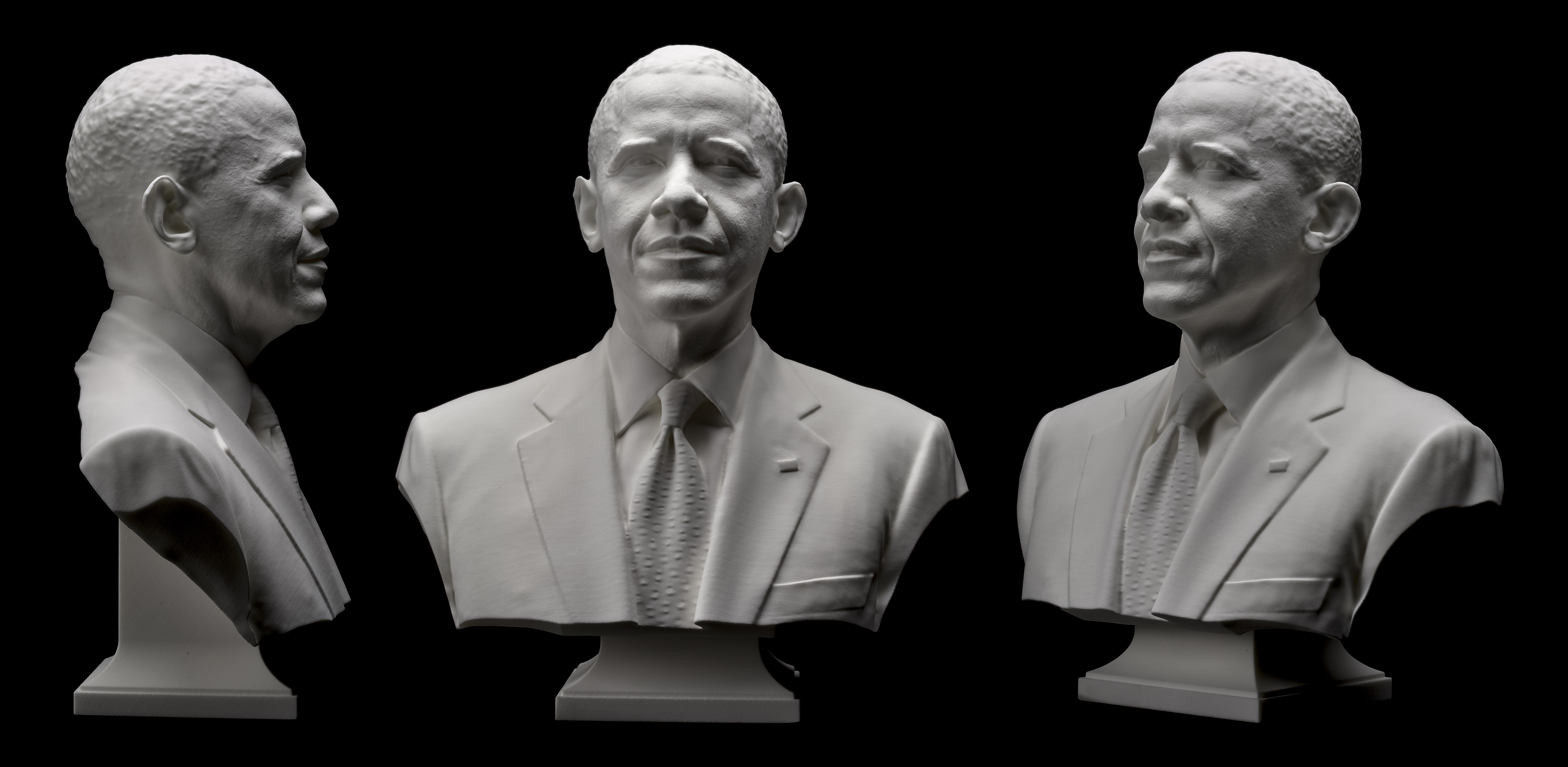3D portrait of President Barack Obama