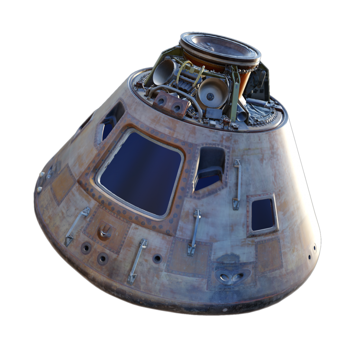 Apollo Command Module 3D scan