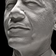 3D portrait close-up of President Barack Obama