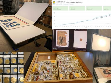 Objects and Dashboard from Mass Digitization