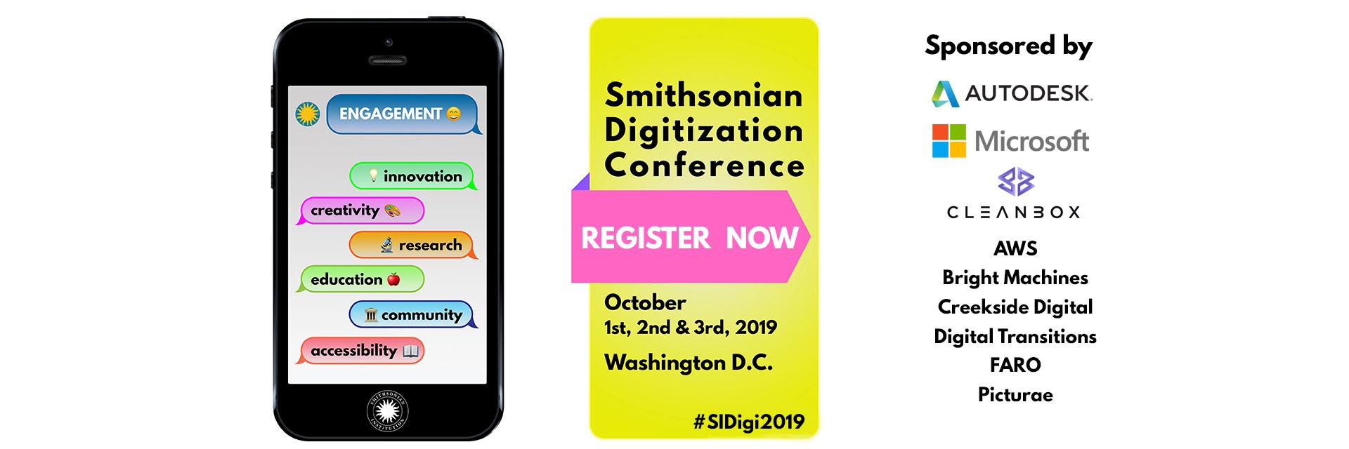 2019 SI Digitization Conference Banner